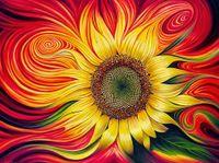 Wholesale sunflower paintings - Diamond Embroidery Flower 5D Diamond Cross Stitch Crystal Full Diamond Sets Unfinish Decorative DIY Diamond Painting Sunflower A2185