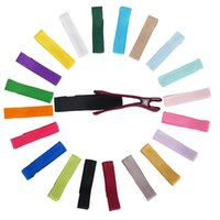 Wholesale Tiny Clips Wholesale - 20 Colors Mini Hair Clip Hair Pins Boutique Tiny Hair Barrette Ribbon Ornaments Hairgrip Accessories For Girls