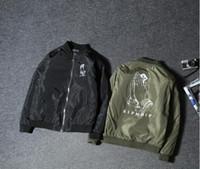 Wholesale Wind Jacket Cheap - RIPNDIP kanye west spring jacket hip hop cartoon refers to cheap cat couples women windbreaker Harajuku wind coat baseball air force one ..
