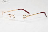 Wholesale Plastic Sports Horn - glasses frame clear lenses sunglasses for women luxury buffalo horn glasses unisex mens designer sunglasses with rimless gold eyeglasses fr