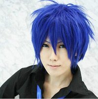 Wholesale Picture Magnets - Free shipping New High Quality Fashion Picture wig>>VOCALOID kaito magnet Short Blue Cosplay Party Wig Hair