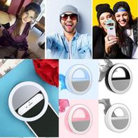 cabo selfie venda por atacado-Luz portátil da suficiência do anel da iluminação do diodo emissor de luz de Selfie suplementar para todo o andróide do ios com cabo de carregamento