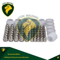 Wholesale Plasma Electrodes - New Air Plasma Cutter Cutting Consumables Shield Cups Parts Spares P80 Pilot Arc Plasma Cutter Torch Tip 1.5mm & Electrode KIT 100Amp 70pcs