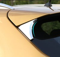 Wholesale Nissan Qashqai Cover - ACCESSORIES FIT FOR 2014 2015 2016 NISSAN QASHQAI SIDE REAR WINDOW SPOILER CHROME COVER TRIM TRIANGLE GARNISH BEZEL