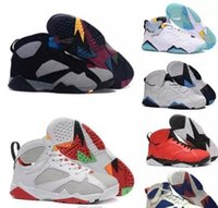Wholesale Discount Men Shoes Wholesale - (Free By DHL)Cheap retro 7 men's basketball shoes Olympic sneaker Retro Bobcats Tinker Alternate discount sports shoes for man online