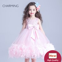 Wholesale Bulk Wedding Dresses - little flower girl pink princess flower girl dresses bulk buy from china selling products gown dress for girl popular flower girl dresses