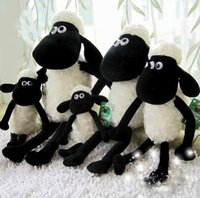 Wholesale Shaun Sheep Plush Toys - Black White Sheep creative plush toy stuffed toy doll Shaun sheep 25cm free shipping in stock