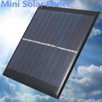 diy solarzellen-ladegerät großhandel-Großhandels-Mini 6V 1W Solarenergie Panel Solar System Modul DIY für Licht Akku Handy Spielzeug Ladegeräte Portable