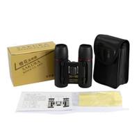 Wholesale Wholesale Optical Bags - 2017 Pocket Sakura Binoculars, 30 x 60 Zoom Optical Binocular Telescope 126m-1000m Black Color With Storage Bag