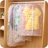 Wholesale Suit Coat Dust Cover - Translucent Printing Clothing Dust Cover Waterproof Storage Bag for Garment Coat Suit Dust Proof Bag Travel Protector