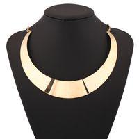 Wholesale Bright Bib Necklace - 2017 Punk Design Open Torques Brillante stainless Collar Fashion Women Neck Bib Bright Alloy Choker Necklace Statement Jewelry