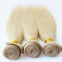 12 inç ombre saç uzantıları toptan satış-Brezilyalı 7Clips / 70g Ombre Saç 813 Sarışın Brezilyalı Insan Düz Bakire Klip Saç Uzatma Kalın Sonu Ivanka