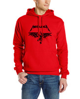 Wholesale Male Heavy Collar - Wholesale-2016 new long sleeved cotton sweatshirt male brand hooded funny clothing Heavy Metal Metallica classics Rock Man sweatshirt Mens