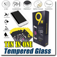 Wholesale I3 Wholesale - For iPhone7 7 plus 6s 6 plus 5se Samsung S7 S6 S5 Tempered glass Screen protector HD LCD Screen Protector Film Guard Cover Shield OM-I3