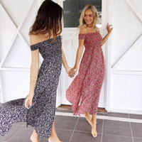 2017 Nuovo Design Vintage Bohemian Women Small Floral Print Wrapped Chest Long Dress Elegante Maxi Dress