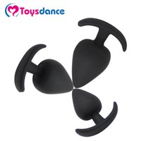 Wholesale Silicone Materials Sex Toy - Toysdance 3pcs Set 100% Silicone Material Large Butt Plugs Adult Sex Products Big Size Anal Sex Toys Erotic Sexual Tools 17420