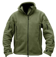 Wholesale Polar Fleece Jackets - Fall-Military Man Fleece tad Tactical Softshell Jacket Outdoor Polartec Thermal Sport Polar Hooded Coat Outerwear Army Clothes