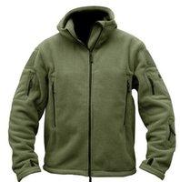 tad softshell ceket toptan satış-Sonbahar-Adam Polar tad Taktik Softshell Ceket Açık Polartec Termal Spor Polar Kapşonlu Coat Kabanlar Ordusu Giyim