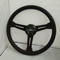Wholesale Pu Steering Wheel - 2017 selling 14-inch sport nd Universal PU steering wheel racing 35CM black gold blue optional free shipping