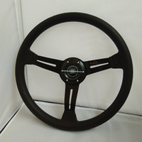 volante al por mayor-2017 venta de 14 pulgadas sport nd Universal PU volante racing 35 CM oro negro azul envío gratis