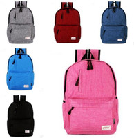 Wholesale Trend Laptop Bags - Backpacks For Teenage Girls Bags Women Youth Trend Schoolbag Linen Boys Student Bag Waterproof Laptop Backpack Men 6 DesignDHL Free Shipping