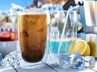 çift katmanlı cam kupa toptan satış-Isıya dayanıklı çift katmanlı Termo Cam Latte Kahve Gözlük / Viski / kahve fincanı / Çay Kupa
