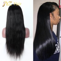 Wholesale Full Hair Wigs Women - JYZ 130% Density Lace Front Human Hair Wigs Peruvian Virgin Hair Front Lace Wigs Straight Full Lace Human Hair Wigs For Black Women