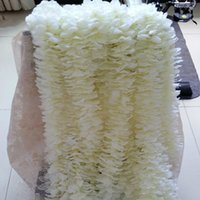 Wholesale free photo backdrops - Unique Design Wedding Backdrop Decoration Orchid Flower Silk Wisteria Vine White Artificial Wreaths Shooting Photo Props Free Shipping