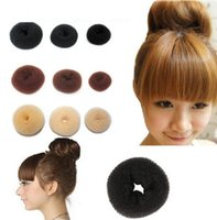 Wholesale christmas hair accessory online - 8 cm Hair Tool Synthetic Donuts Bud Head Band Ball Hair Accessories for Women French Twist French Magic Bun Maker Sweet Hair Band