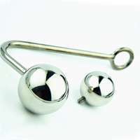 Wholesale Steel Anal Bondage - adult toy Anal Bondage with Balls Stainless Steel Anal Hook SMBD butt plug 2 replaceable balls