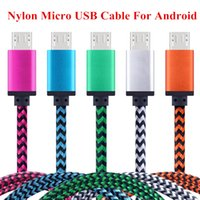 Wholesale Data Sync Cable Long Iphone - Nylon Braided 1m 3ft Long Fast Charging Micro USB Cable Data Sync Charger Cable for Android Samsung Xiaomi OPPO SONY