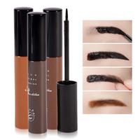 Wholesale Eyebrow Dye Cream - Best Price Makeup Cosmetics 3 Colors Waterproof Dye Eyebrow Mascara Cream Eye Brow Gel Make Up Kit Make It Natural Thick