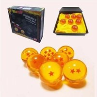 dragonball z kutusu toptan satış-4.5 cm Animasyon dragonBall 7 adet kristal top 7 adet kutu içinde yeni set dragon ball Z komple anime manga