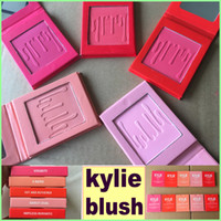 Wholesale Pressed Blush - In stock Kylie jenner Pressed Blush powder 5 Colors?set kylie face makeup powder kylie Blush powder free shipping