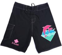 новый розовый дельфин оптовых-Новый бренд розовый дельфин лето Quick Dry шорты мужчины мода печатных причинно-следственной шорты Slim Fit короткие Homme мужской пляж Boardshorts плюс