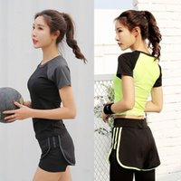 Wholesale Wholesale Fitness Clothing Women - Spring summer 2017 new yoga suit three-piece fitness exercise suit women's outdoor running dress speed dry clothes show thin