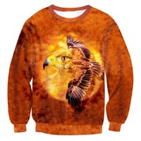 Wholesale Flying Owls - NEW Fashion hot style sweatshirts men or women's print Brown owl Wings fly enchantress pullover hoodies free shipping