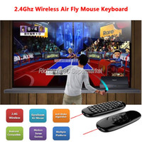USB 1 Mini Keyboard Wholesale- TK668 2.4G Wireless C120 Fly Air Mouse TV BOX Keyboard Rechargeable Remote Controller for Android Windows Mac OS LinuxTV