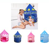 Wholesale 2017 Baby Beach Tent Indoor Outdoor Toys Tents House For Baby Playing Game Kids Princess Prince Castle Gorgeous Gifts