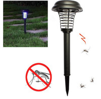 Wholesale Solar Garden Light Mosquito Killer - 2 Modes Rechargeable Lampada Hot UV LED Solar Powered Outdoor Yard Garden Lawn Anti Mosquito Insect Pest Bug Zapper Killer Solar Light