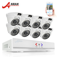 Wholesale Cctv Dome Ir - ANRAN 8CH CCTV System 1080N AHD DVR 720P 1800TVL IR Weatherproof Outdoor Camera Home Security Surveillance System Email Alert