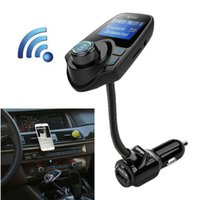 Wholesale bluetooth handsfree car kit for iphone online - Wireless FM Transmitter Modulator Car Kit MP3 Player Bluetooth Handsfree USB TF Card Slots AUX LCD Display