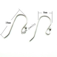 Wholesale Sterling Silver Crafting Wholesale - 10pairs lot 925 Sterling Silver Earring Hooks Finding For DIY Craft Fashion Jewelry Gift Free Shipping 18mm W045