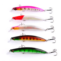 Wholesale Brand New Plastic Minnow Laser Fishing bait cm g colors Hooks D Eyes Artificial lure Fishing Tackle
