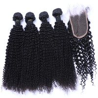 Wholesale Cheap High Quality Hair Extensions - Wholesale Brazilian Hair Cheap High Quality Unprocessed Peruvian Indian Malaysian Hair Extension Human Virgin Hair Kinky Curly With Closure