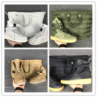 Wholesale Field Brown - NEW Special field one Airs 1 Faded Olive Gum Light Brown Golden Beige Linen black high Boots Men Women Running Shoes sports 36-45