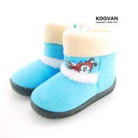 Wholesale Dog Winter Cartoon - Koovan Children's Boots 2017 Warm Winter Children Boots Dog Cartoon Girls Snow Boot Boys Kids Rubber Boots Children Shoes Toddler Size 23-27