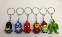 Wholesale Mixed set the Avengers children Silicone Cartoon key chain Party Gift CM yc331