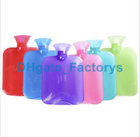 Wholesale Rubber Hot Water Bottles - Wholesale DHL-Rubber Hot Water Bottle Premium Classic Transparent Hot Water Bottles Ideal For Pain Relief, Muscle Relaxation & Comfort Use