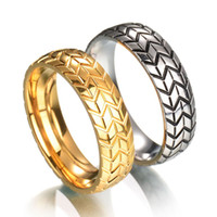 Wholesale american tire for sale - Group buy 2017 new Women Men s Tire carved Ring Vintage Stainless steel Wedding Rings For Male Engagement Band Jewelry Couple Rings